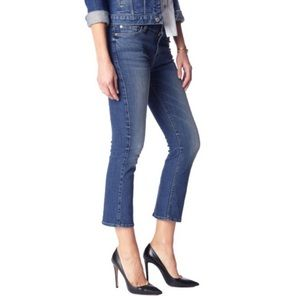 7 For All Mankind Cropped Boot High Rise Dark Wash Jeans size 28